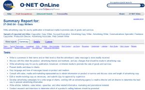 Onet Online Job Description  Onet Online Resume